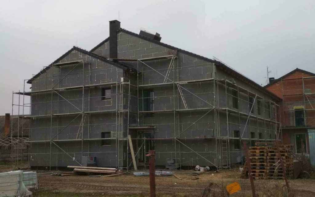Elewacja nowego domu